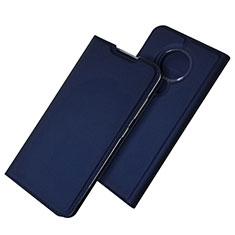 Handytasche Stand Schutzhülle Flip Leder Hülle für Nokia 6.2 Blau