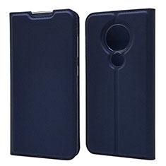 Handytasche Stand Schutzhülle Flip Leder Hülle für Nokia 7.2 Blau