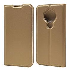 Handytasche Stand Schutzhülle Flip Leder Hülle für Nokia 7.2 Gold