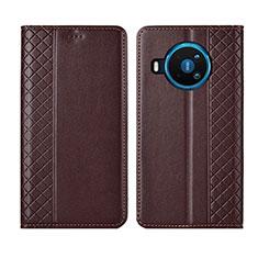 Handytasche Stand Schutzhülle Flip Leder Hülle für Nokia 8.3 5G Braun