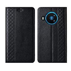 Handytasche Stand Schutzhülle Flip Leder Hülle für Nokia 8.3 5G Schwarz