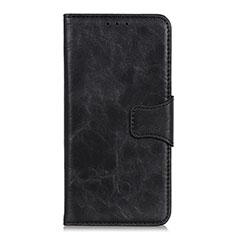 Handytasche Stand Schutzhülle Flip Leder Hülle für Nokia C1 Schwarz