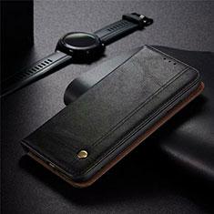 Handytasche Stand Schutzhülle Flip Leder Hülle für Realme 5 Pro Schwarz