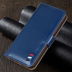 Handytasche Stand Schutzhülle Flip Leder Hülle für Realme 5i Blau