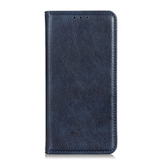 Handytasche Stand Schutzhülle Flip Leder Hülle für Realme 7i Blau