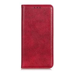 Handytasche Stand Schutzhülle Flip Leder Hülle für Realme C11 Rot