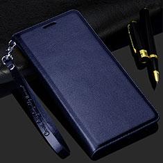 Handytasche Stand Schutzhülle Flip Leder Hülle für Realme C3 Blau