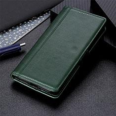 Handytasche Stand Schutzhülle Flip Leder Hülle für Samsung Galaxy A01 Core Grün
