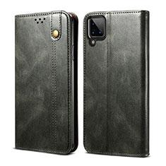 Handytasche Stand Schutzhülle Flip Leder Hülle für Samsung Galaxy A12 Nachtgrün