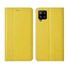Handytasche Stand Schutzhülle Flip Leder Hülle für Samsung Galaxy A42 5G Gelb