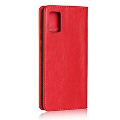 Handytasche Stand Schutzhülle Flip Leder Hülle für Samsung Galaxy A51 4G Rot