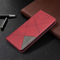 Handytasche Stand Schutzhülle Flip Leder Hülle für Samsung Galaxy S20 FE 5G Rot