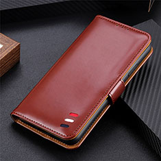 Handytasche Stand Schutzhülle Flip Leder Hülle für Samsung Galaxy S21 Ultra 5G Braun
