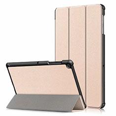 Handytasche Stand Schutzhülle Flip Leder Hülle für Samsung Galaxy Tab S5e 4G 10.5 SM-T725 Gold