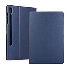 Handytasche Stand Schutzhülle Flip Leder Hülle für Samsung Galaxy Tab S6 10.5 SM-T860 Blau