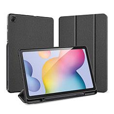Handytasche Stand Schutzhülle Flip Leder Hülle für Samsung Galaxy Tab S6 Lite 4G 10.4 SM-P615 Schwarz