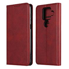 Handytasche Stand Schutzhülle Flip Leder Hülle für Sharp AQUOS Sense4 Plus Rot