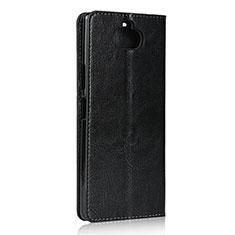 Handytasche Stand Schutzhülle Flip Leder Hülle für Sony Xperia 8 Lite Schwarz