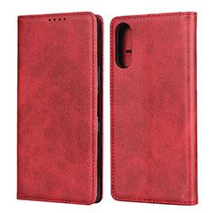 Handytasche Stand Schutzhülle Flip Leder Hülle für Sony Xperia L4 Rot