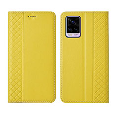 Handytasche Stand Schutzhülle Flip Leder Hülle für Vivo V20 Pro 5G Gelb
