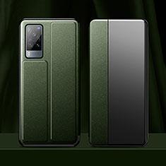 Handytasche Stand Schutzhülle Flip Leder Hülle für Vivo X60 5G Nachtgrün