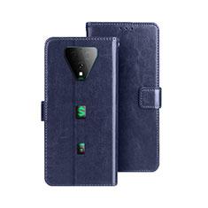 Handytasche Stand Schutzhülle Flip Leder Hülle für Xiaomi Black Shark 3 Pro Blau