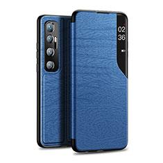 Handytasche Stand Schutzhülle Flip Leder Hülle für Xiaomi Mi 10 Ultra Blau