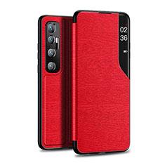 Handytasche Stand Schutzhülle Flip Leder Hülle für Xiaomi Mi 10 Ultra Rot