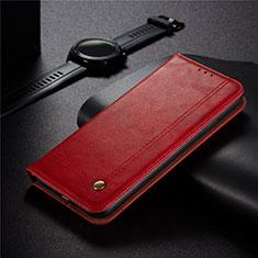 Handytasche Stand Schutzhülle Flip Leder Hülle für Xiaomi Redmi 9 India Rot