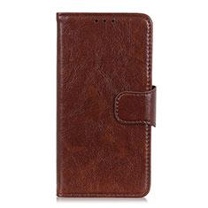 Handytasche Stand Schutzhülle Flip Leder Hülle für Xiaomi Redmi Note 9 Pro Max Braun
