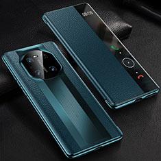 Handytasche Stand Schutzhülle Flip Leder Hülle K01 für Huawei Mate 40 Pro Blau