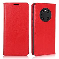 Handytasche Stand Schutzhülle Flip Leder Hülle K02 für Huawei Mate 40 Pro Rot