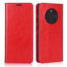 Handytasche Stand Schutzhülle Flip Leder Hülle K02 für Huawei Mate 40 Rot