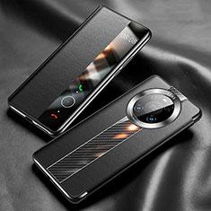 Handytasche Stand Schutzhülle Flip Leder Hülle K05 für Huawei Mate 40 Pro Schwarz