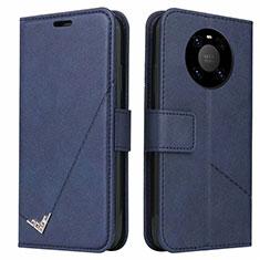 Handytasche Stand Schutzhülle Flip Leder Hülle K06 für Huawei Mate 40 Pro Blau