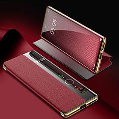 Handytasche Stand Schutzhülle Flip Leder Hülle K07 für Huawei Mate 40 Pro Fuchsie
