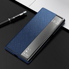 Handytasche Stand Schutzhülle Flip Leder Hülle K08 für Huawei Mate 40 Pro Blau