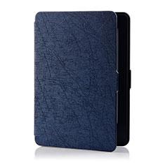 Handytasche Stand Schutzhülle Flip Leder Hülle L01 für Amazon Kindle 6 inch Blau
