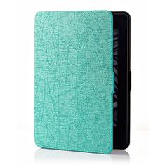 Handytasche Stand Schutzhülle Flip Leder Hülle L01 für Amazon Kindle 6 inch Cyan
