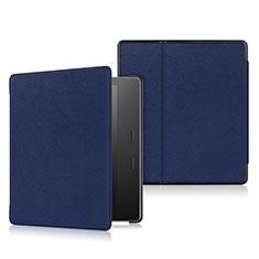 Handytasche Stand Schutzhülle Flip Leder Hülle L01 für Amazon Kindle Oasis 7 inch Blau