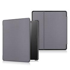 Handytasche Stand Schutzhülle Flip Leder Hülle L01 für Amazon Kindle Oasis 7 inch Grau