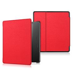 Handytasche Stand Schutzhülle Flip Leder Hülle L01 für Amazon Kindle Oasis 7 inch Rot