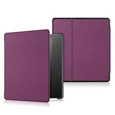 Handytasche Stand Schutzhülle Flip Leder Hülle L01 für Amazon Kindle Oasis 7 inch Violett