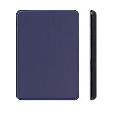 Handytasche Stand Schutzhülle Flip Leder Hülle L01 für Amazon Kindle Paperwhite 6 inch Blau