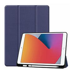 Handytasche Stand Schutzhülle Flip Leder Hülle L01 für Apple iPad 10.2 (2020) Blau