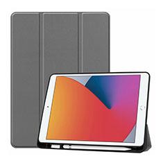 Handytasche Stand Schutzhülle Flip Leder Hülle L01 für Apple iPad 10.2 (2020) Grau