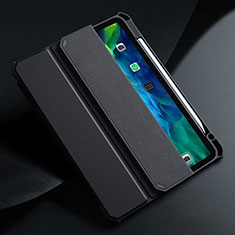 Handytasche Stand Schutzhülle Flip Leder Hülle L01 für Apple iPad Air 10.9 (2020) Schwarz