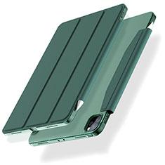 Handytasche Stand Schutzhülle Flip Leder Hülle L01 für Apple iPad Pro 12.9 (2020) Grün