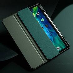 Handytasche Stand Schutzhülle Flip Leder Hülle L01 für Apple New iPad Air 10.9 (2020) Nachtgrün