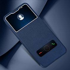 Handytasche Stand Schutzhülle Flip Leder Hülle L01 für Huawei Honor 30 Lite 5G Blau